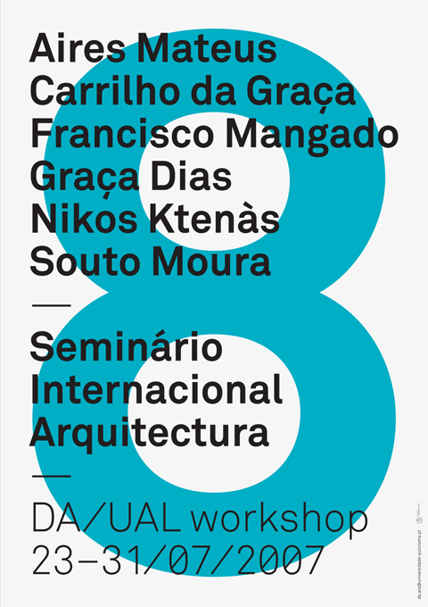 Posters for Architecture Lectures and Workshops at Universidade Autónoma de Lisboa 1