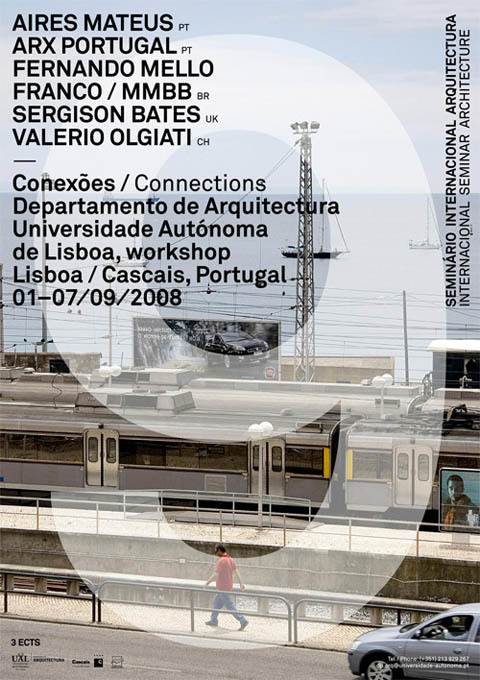 Posters for Architecture Lectures and Workshops at Universidade Autónoma de Lisboa 2
