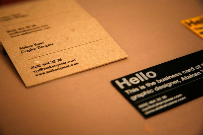 Atakan Yasar Business Cards 1