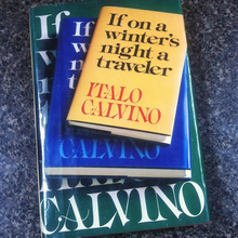 <cite>If On a Winter's Night a Traveler</cite> by Italo Calvino (1979 edition)
