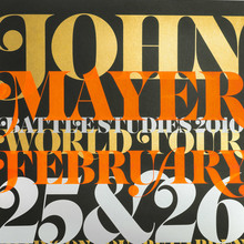 John Mayer Poster: Madison Square Garden, 2010