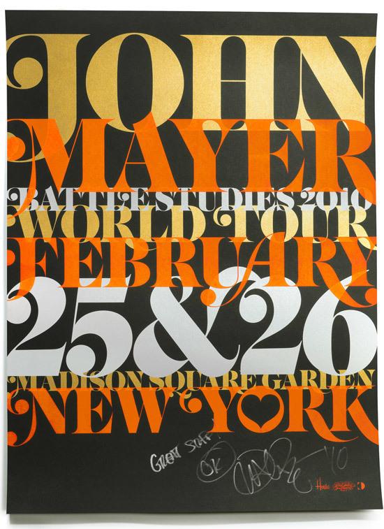 John Mayer Poster: Madison Square Garden, 2010 6