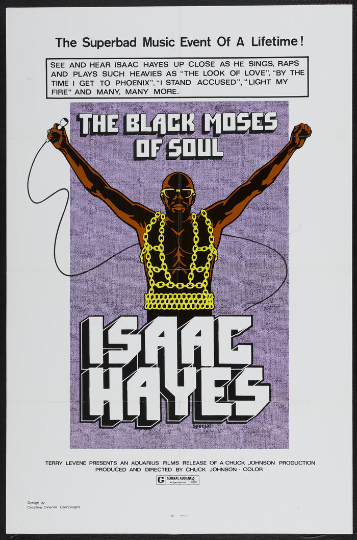 The Black Moses of Soul: Isaac Hayes concert movie poster
