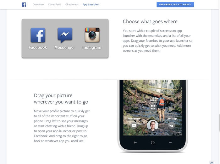 Facebook Home: Website & Product 2