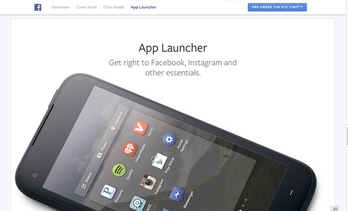 Facebook Home: Website & Product 5