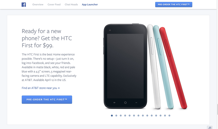 Facebook Home: Website & Product 7