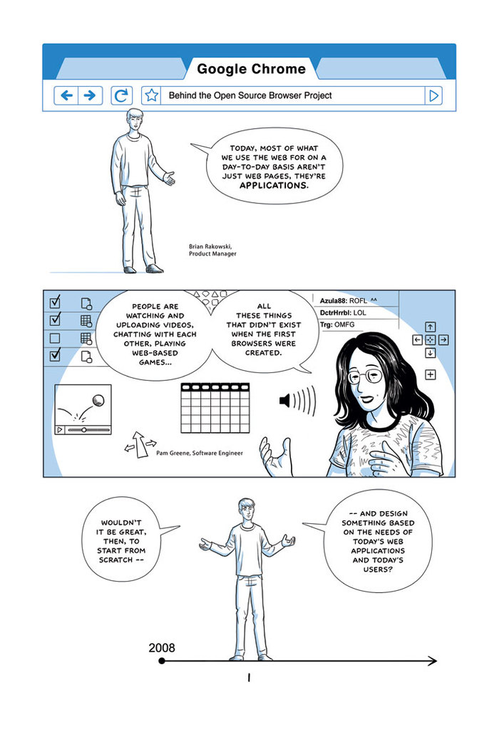Google Chrome Introduction Comic 1
