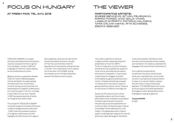 The Viewer. Focus on Hungary exhibition catalog 3