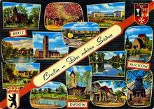 """""""Berlin – Der schöne Süden"""" postcard"""