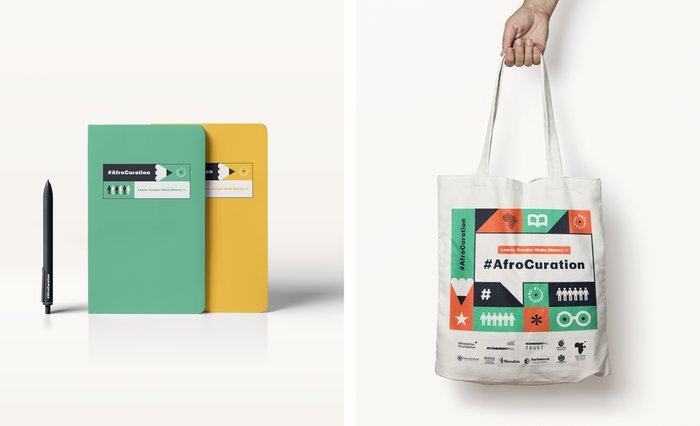 Notebooks and tote bag.