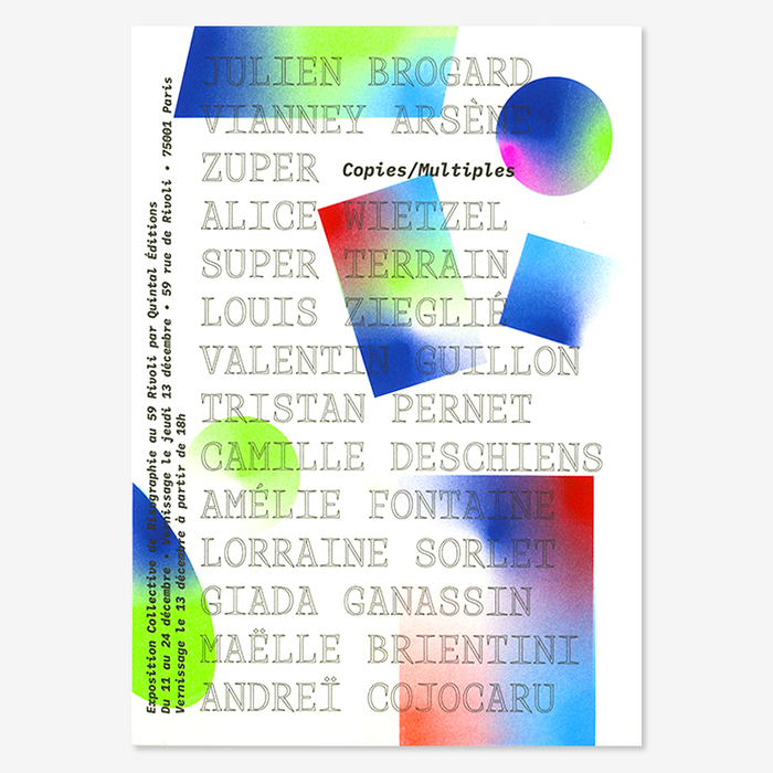 Copies / Multiples exhibition posters, Quintal Éditions 3