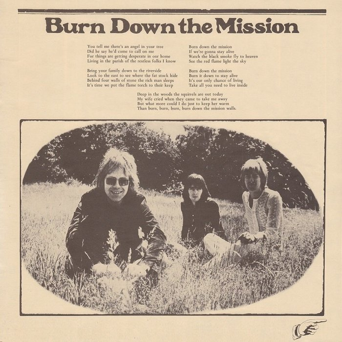 "Lyrics for ""Burn Down the Mission""."