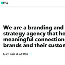 RYSE agency website