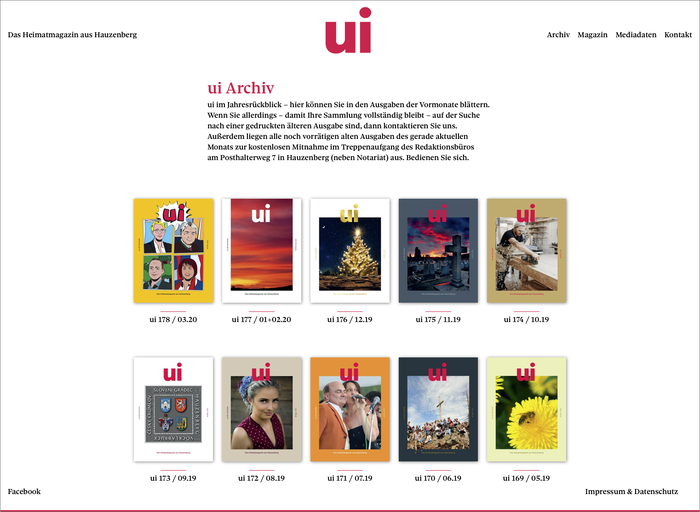 Sole Serif is used for the magazine website, too.