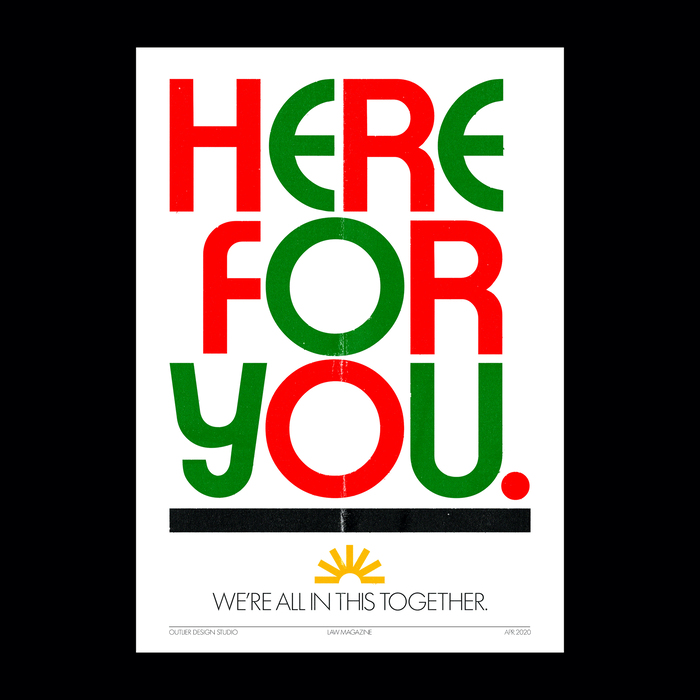 """Here For You"" poster 1"