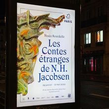 <cite>Les Contes Étranges de Niels Hansen Jacobsen</cite> at Musée Bourdelle exhibition posters and booklet