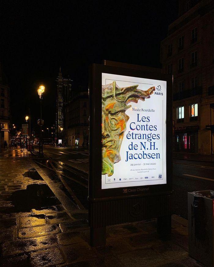 Les Contes Étranges de Niels Hansen Jacobsen at Musée Bourdelle exhibition posters and booklet 2