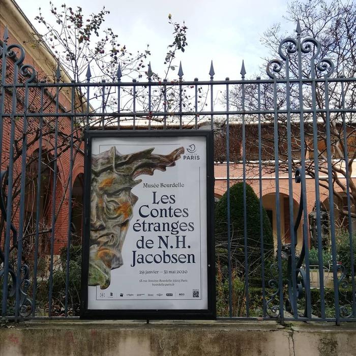 Les Contes Étranges de Niels Hansen Jacobsen at Musée Bourdelle exhibition posters and booklet 3