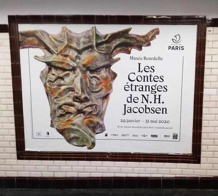 Les Contes Étranges de Niels Hansen Jacobsen at Musée Bourdelle exhibition posters and booklet 4