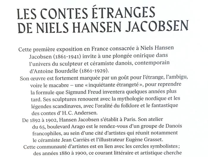 Les Contes Étranges de Niels Hansen Jacobsen at Musée Bourdelle exhibition graphics 4