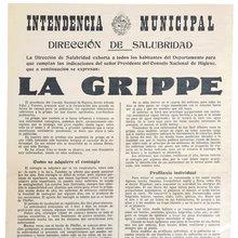 """<cite>Intendencia Municipal</cite>, """"La Grippe"""" poster"""
