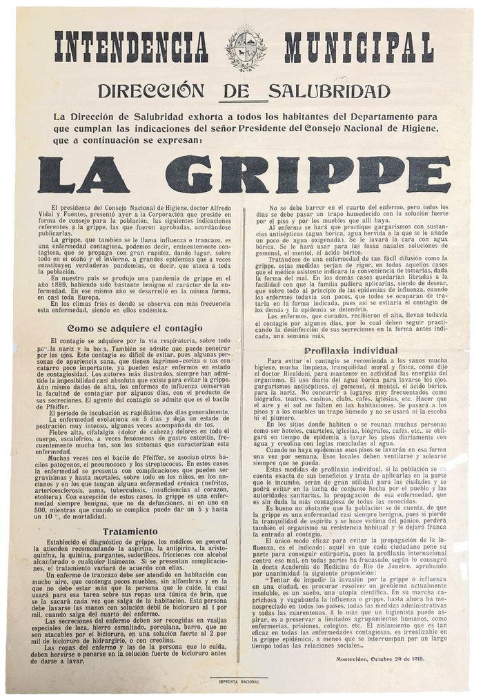 "Intendencia Municipal, ""La Grippe"" poster"