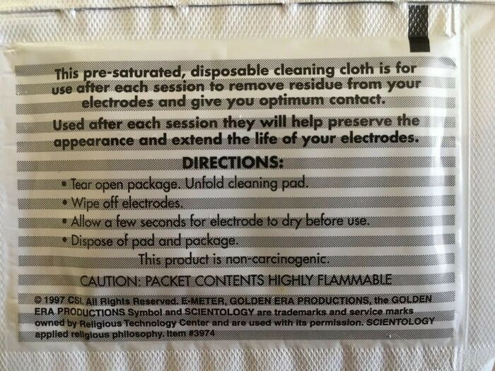 E-Meter Electrode Cleaning Cloths 2