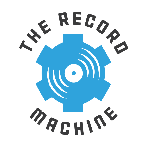 The Record Machine blue reel logo 1