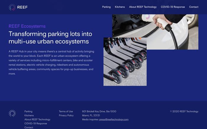 REEF website 2