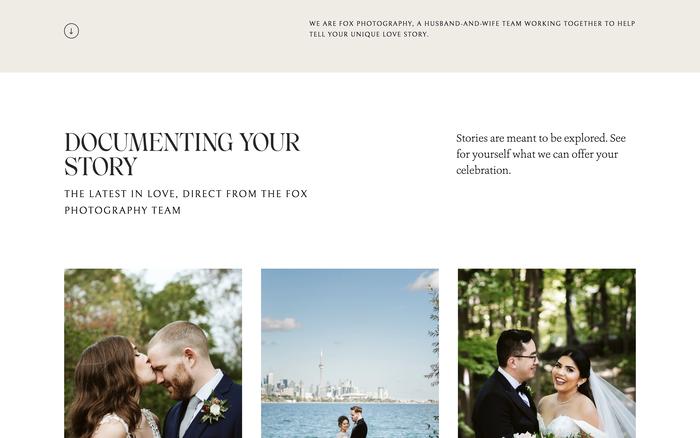 Fox Photography website 2