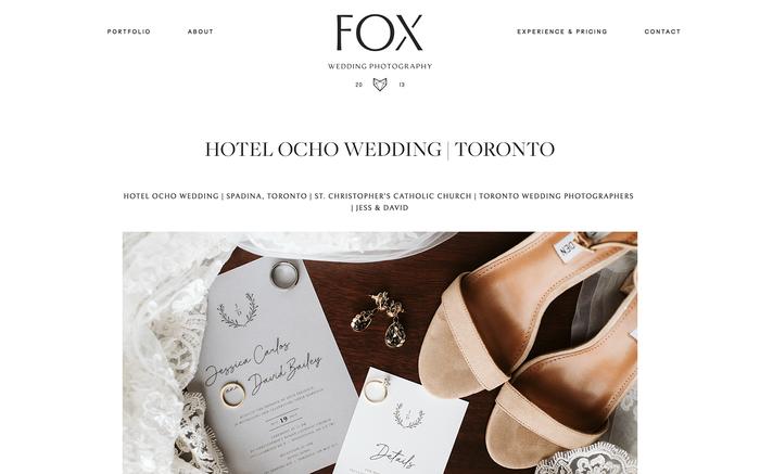 Fox Photography website 3