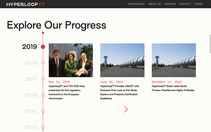 Hyperloop TT website 3
