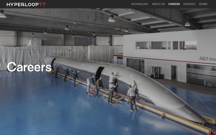 Hyperloop TT website 4