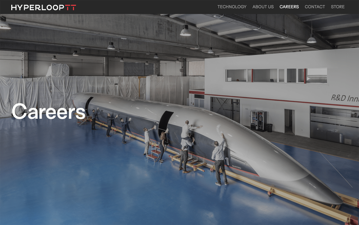 Hyperloop TT website 4