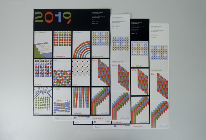 2019 calendar by Uncurated Studio 2