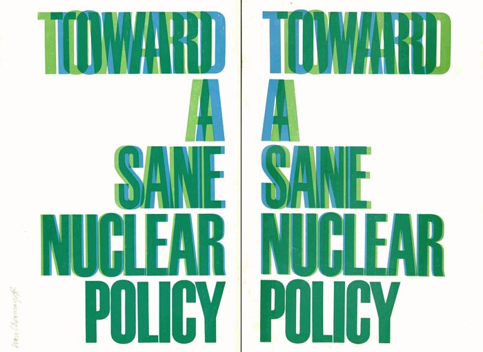 Toward a Sane Nuclear Policy booklet 12