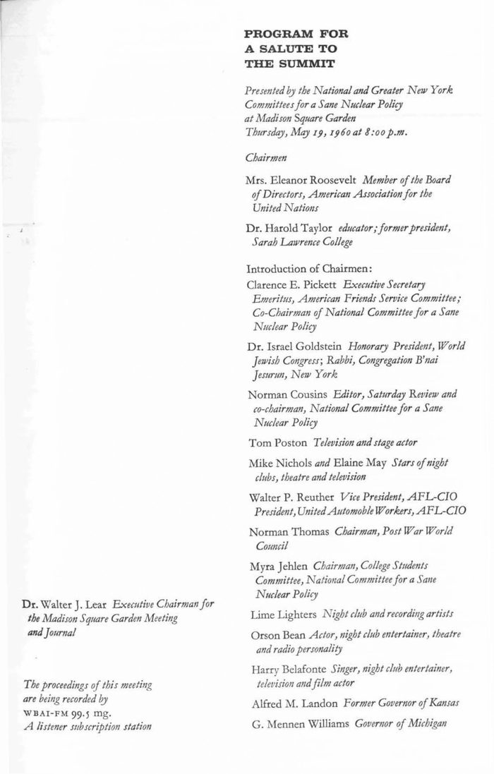 Toward a Sane Nuclear Policy booklet 3