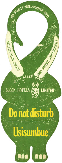 Elephant door hangers, Block Hotels, Kenya