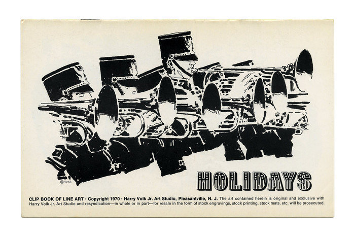 """""""Holidays"""" (No. 191) ft.  with stretched letterforms."""