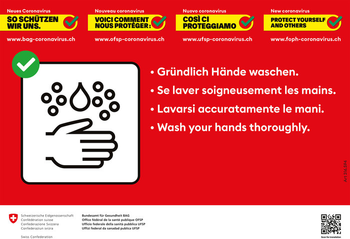 Swiss Confederation Covid-19 information campaign 2