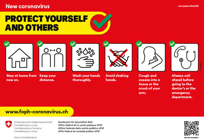 Swiss Confederation Covid-19 information campaign 1