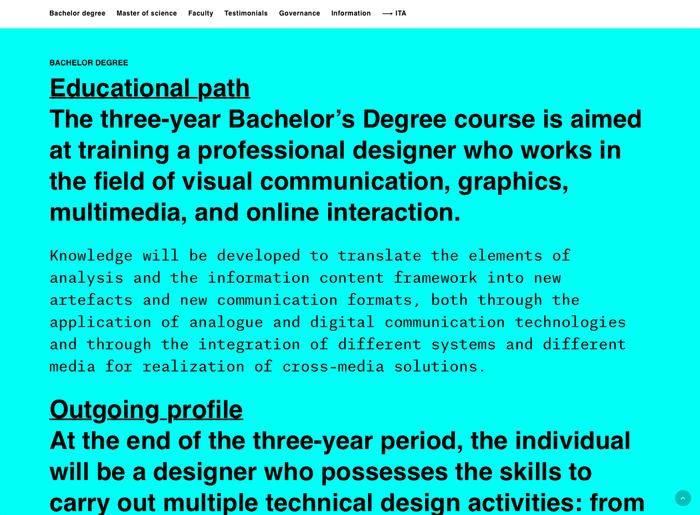 DDC – Design della Comunicazione website 2