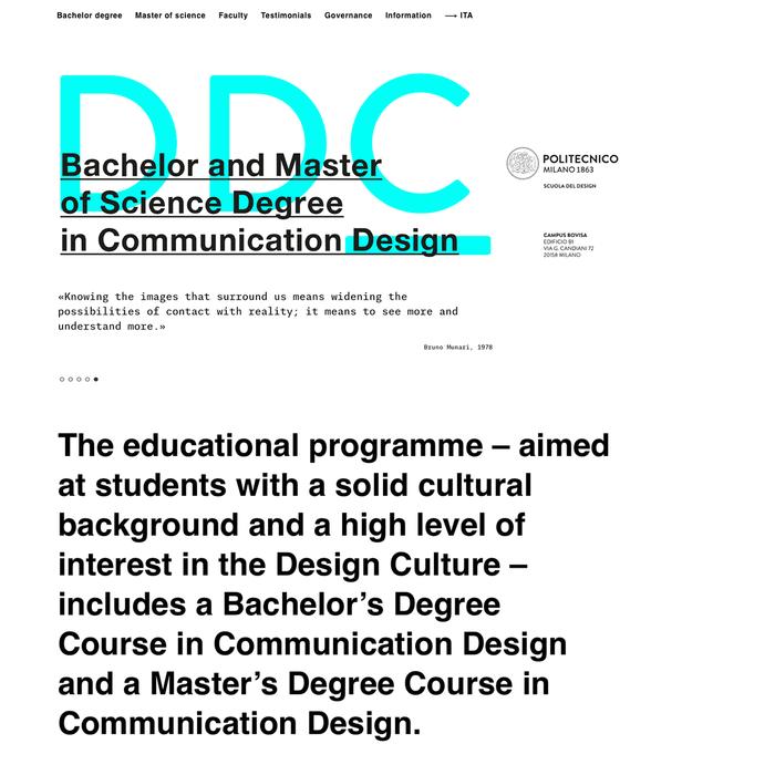 DDC – Design della Comunicazione website 1