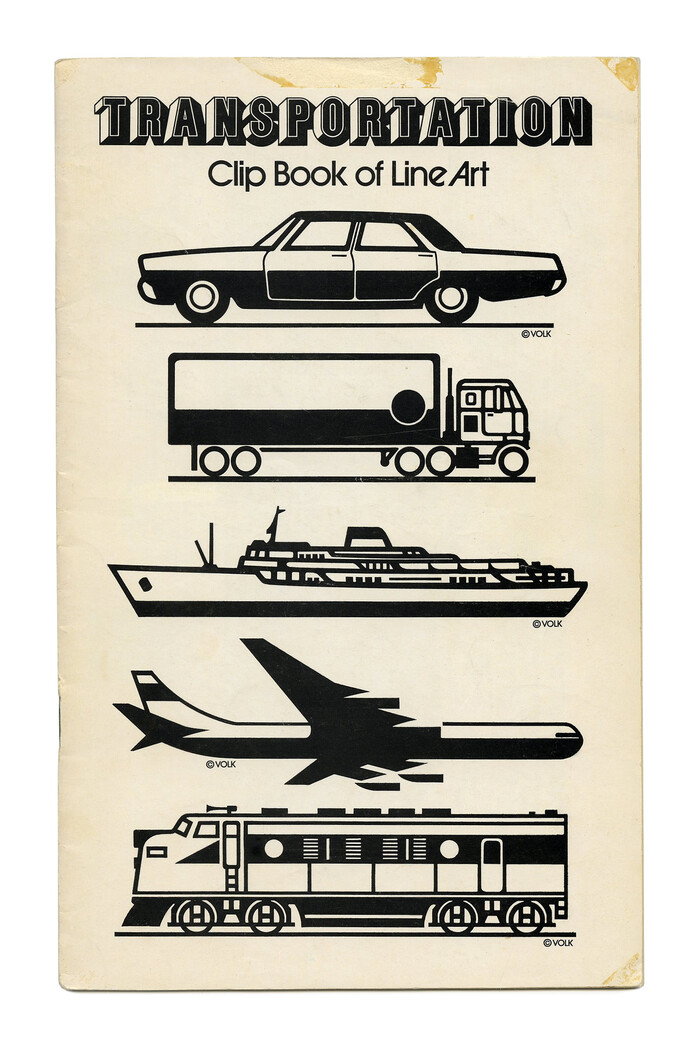 """""""Transportation"""" (No. 572) ft.. Just like in """"Mail"""" (No. 241, see above), the weight of """"Clip Book of Line Art"""" is increased to hold up against the heavyweight."""