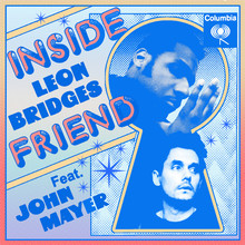 "Leon Bridges & John Mayer – ""Inside Friend"" single cover and shirt"