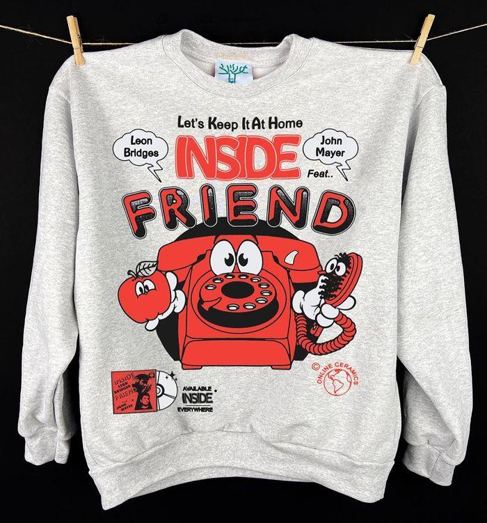 "Leon Bridges & John Mayer – ""Inside Friend"" single cover and shirt 3"
