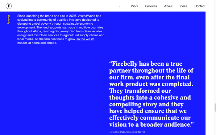 Firebelly portfolio website 4