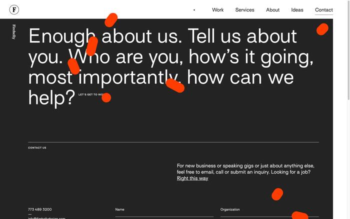Firebelly portfolio website 6
