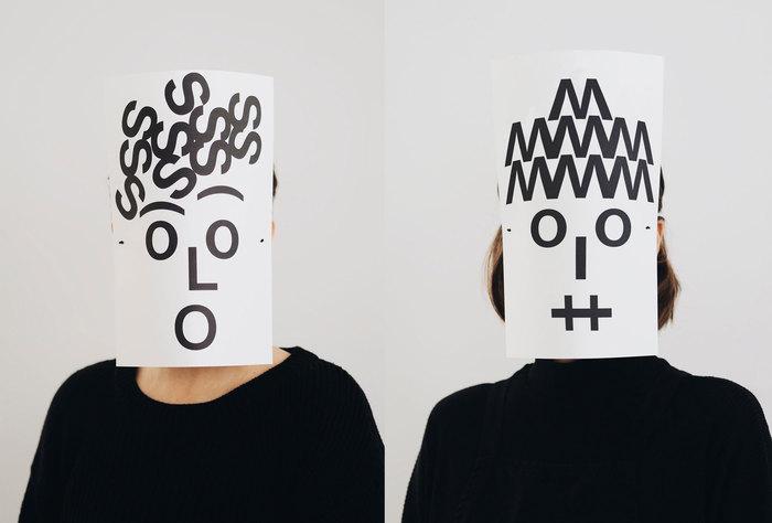 Typographic masks, 2020 1