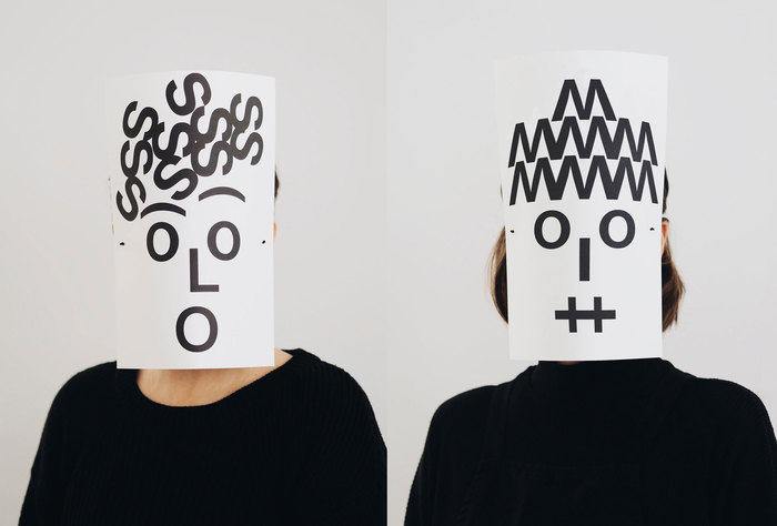 Typographic masks, 2020 1